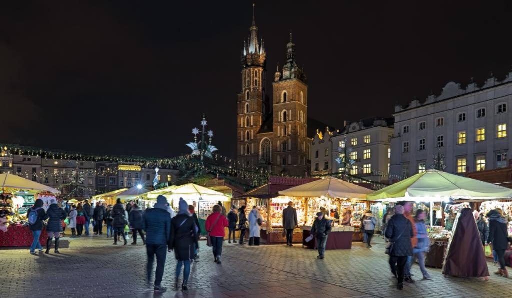 julmarknad i Krakow